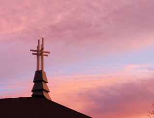 sunset view of steeple