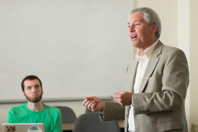 professor speaking to class