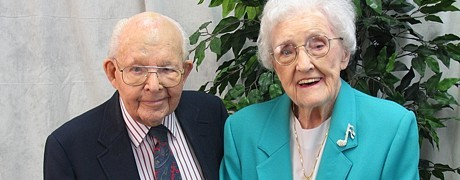 old couple smiling for picture