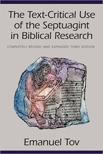 the text-critical use of the septuagint on biblical research book cover