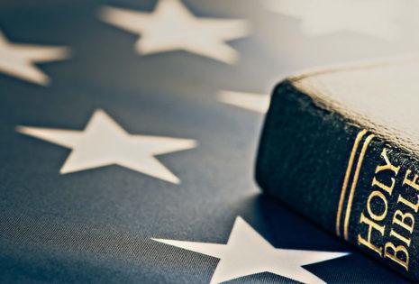 bible on american flag