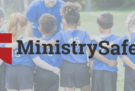 ministry safe logo with kids playing sports
