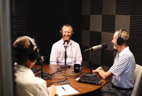 podcast room conversation