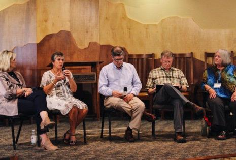 panel of 5 speakers